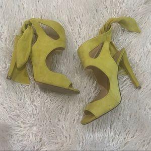 Green Zara heels
